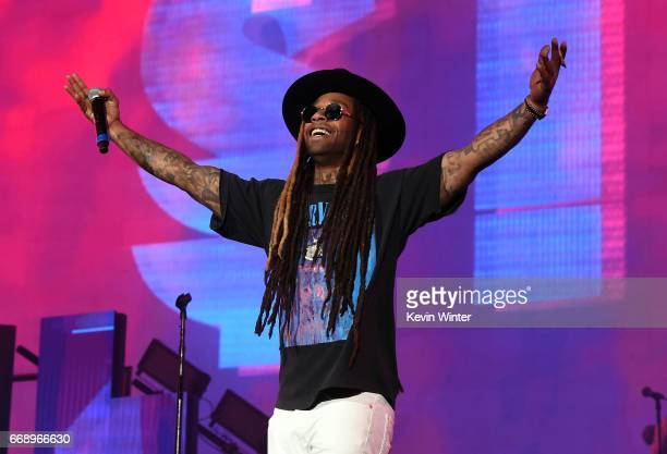 Rapper Ty Dolla Sign performs on the Coachella Stage during day 2 of the Coachella Valley Music And Arts Festival at the Empire Polo Club on April 15...