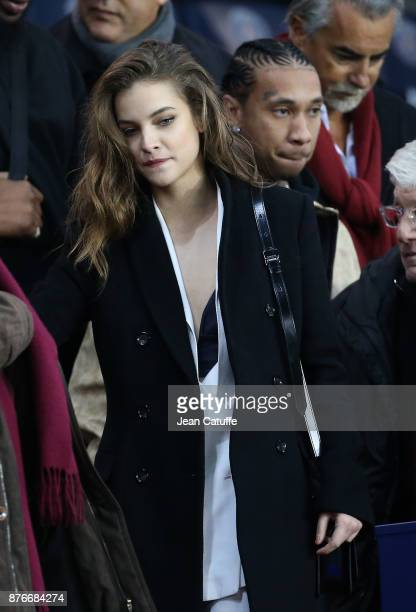 Rapper Tyga aka Micheal Ray Stevenson and model Barbara Palvin attends the French Ligue 1 match between Paris Saint Germain and FC Nantes at Parc des...