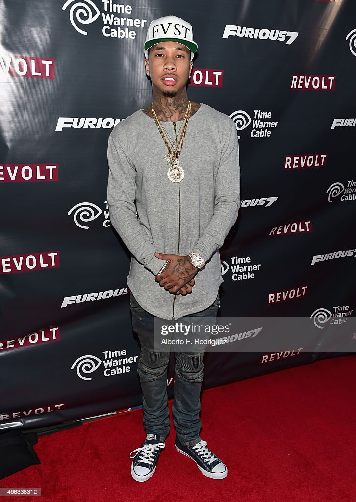 Rapper Tyga attends Revolt Live Hosts Exclusive 'Furious 7' Takeover with Musical Performances From the Official Motion Picture Soundtrack at Revolt...