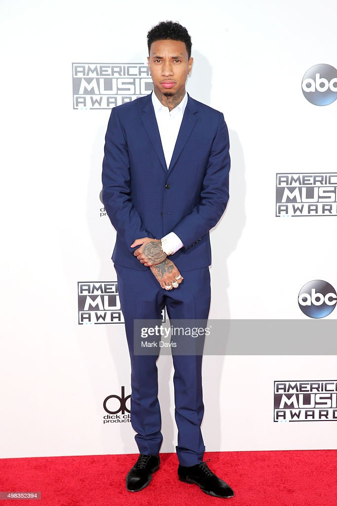 Rapper Tyga attends the 2015 American Music Awards at Microsoft Theater on November 22 2015 in Los Angeles California