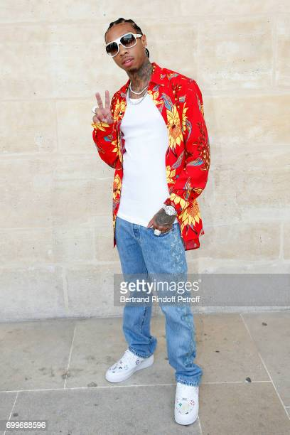 Rapper Tyga attends the Louis Vuitton Menswear Spring/Summer 2018 show as part of Paris Fashion Week on June 22 2017 in Paris France
