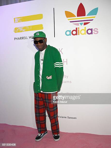 Rapper Tyler the Creator attends adidas Originals Pink Beach Pharrell Williams party on May 13 2016 in West Hollywood California