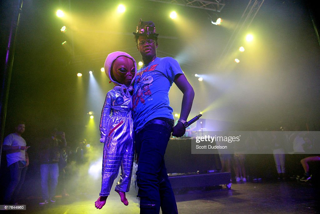 Rapper Ugly God performs onstage during the Beach Goth Festival at The Observatory on October 23, 2016 in Santa Ana, California.