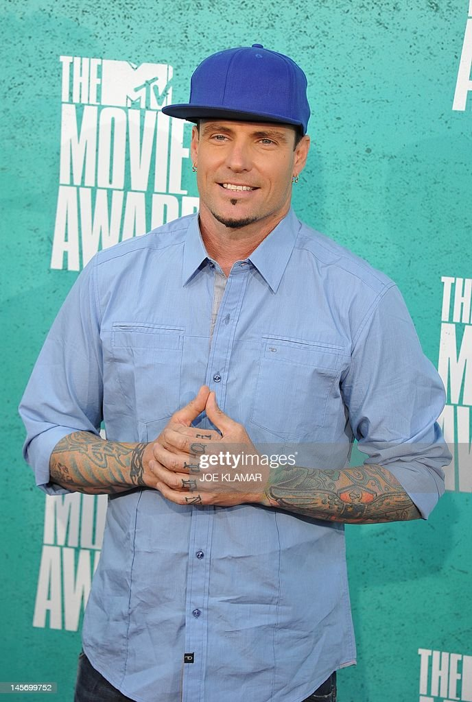 Rapper Vanilla Ice arrives at the MTV Movie Awards at Universal Studios, in Los Angeles, California, on June 3, 2012.