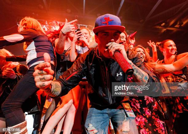 Rapper Vanilla Ice performs on stage during the 'I Love The 90's Tour' at Abbotsford Centre on April 22 2017 in Abbotsford Canada