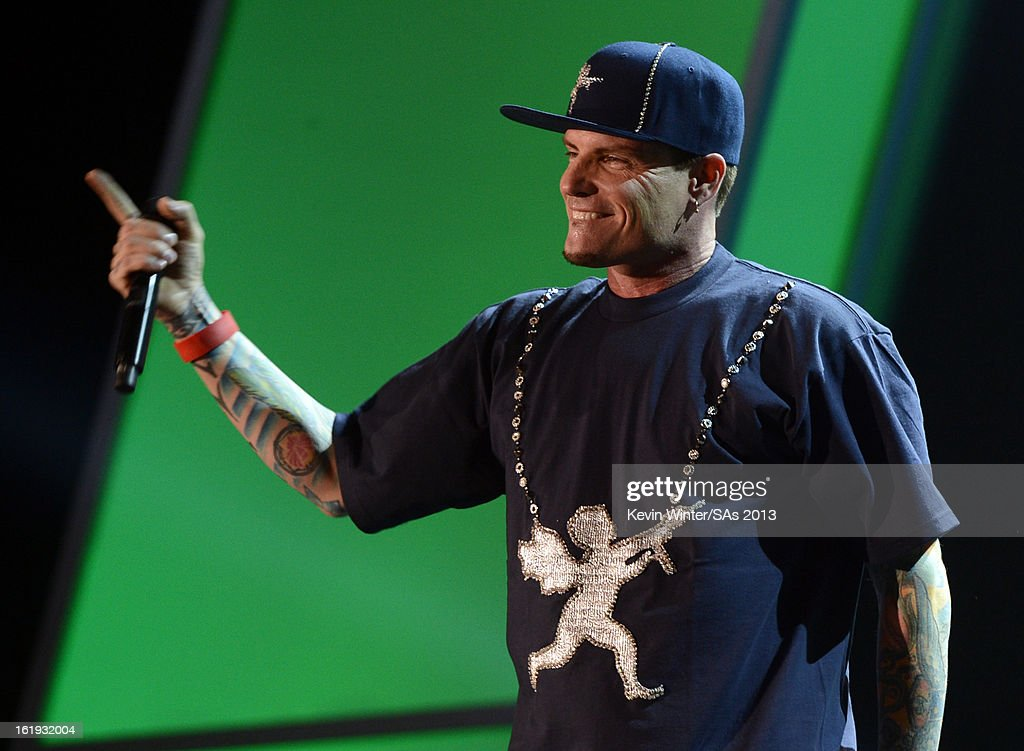 Rapper Vanilla Ice performs onstage at the 3rd Annual Streamy Awards at Hollywood Palladium on February 17, 2013 in Hollywood, California.