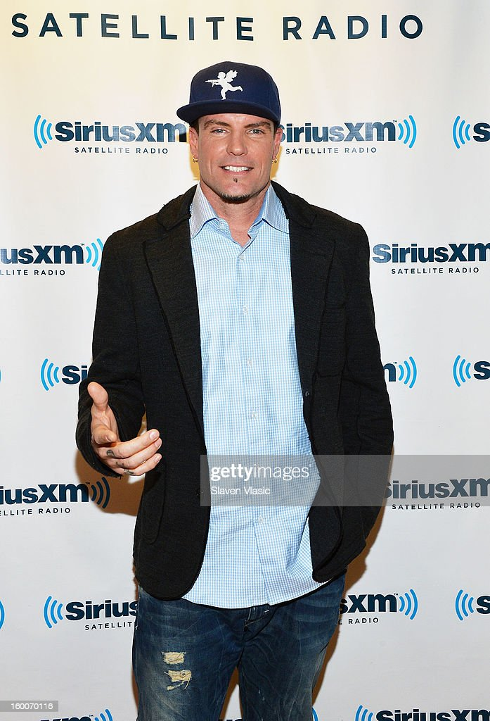 Rapper <a gi-track='captionPersonalityLinkClicked' href=/galleries/search?phrase=Vanilla+Ice&family=editorial&specificpeople=228351 ng-click='$event.stopPropagation()'>Vanilla Ice</a> visits SiriusXM Studios on January 25, 2013 in New York City.