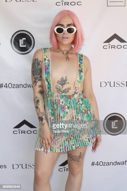 Rapper Vials attends 40z and Waffles x Coachella Party on April 15 2017 in Palm Springs California