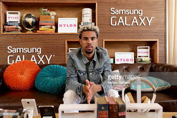 Rapper Vic Mensa at the Samsung Galaxy Artist Lounge at Lollapalooza at Grant Park on August 2 2014 in Chicago Illinois