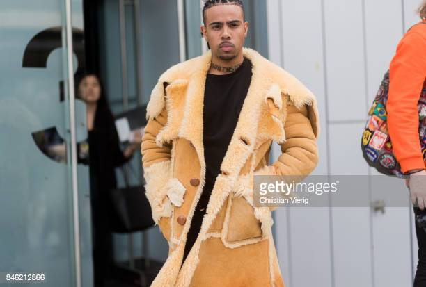 Rapper Vic Mensa seen in the streets of Manhattan outside Coach during New York Fashion Week on September 12 2017 in New York City