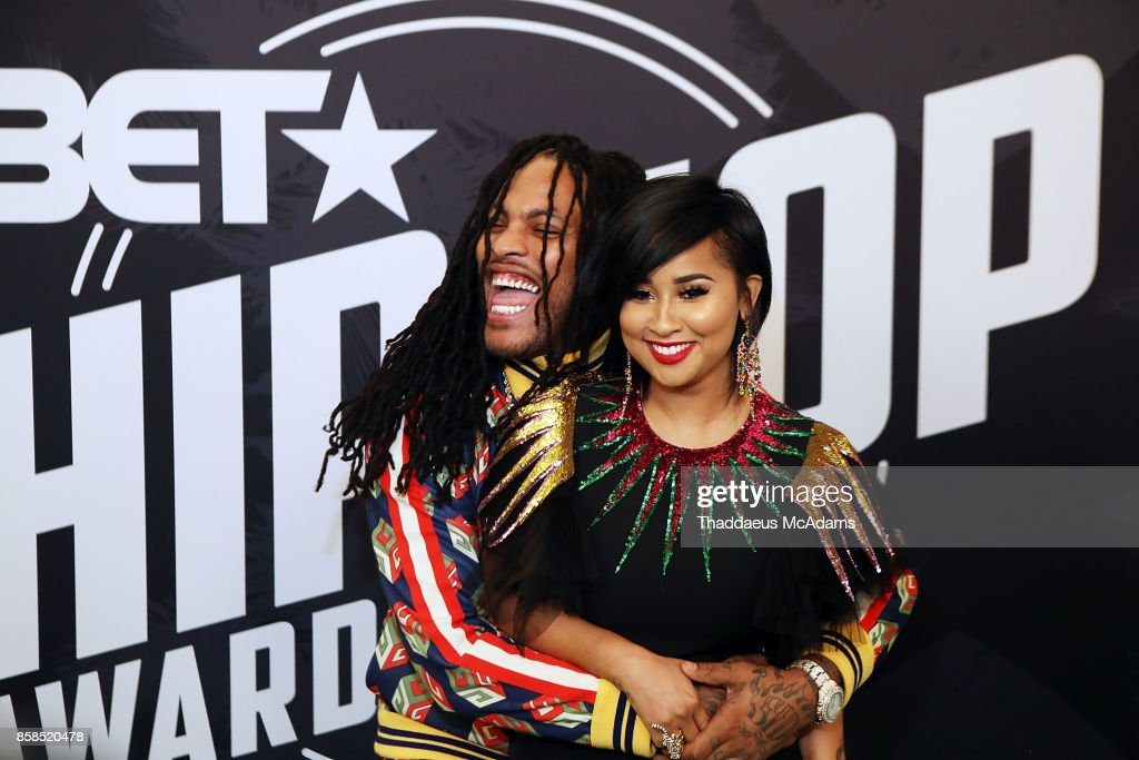 Rapper Waka Flocka and TV personality Tammy Rivera attends BET Hip Hop Awards 2017 on October 6, 2017 in Miami Beach, Florida.