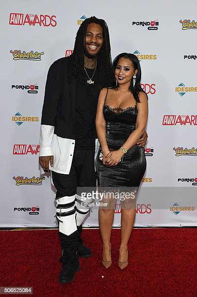 Rapper Waka Flocka Flame and his wife Tammy Rivera attend the 2016 Adult Video News Awards at the Hard Rock Hotel Casino on January 23 2016 in Las...