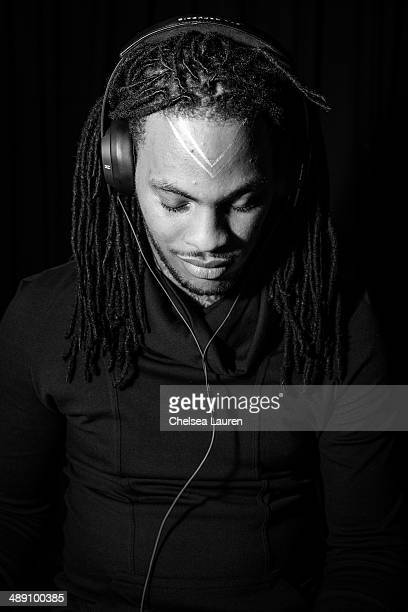Rapper Waka Flocka Flame prepares to shoot the video for 'Rage The Night Away' on March 18 2014 in Los Angeles California