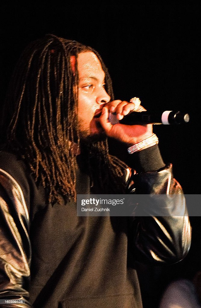 Rapper Waka Flocka performs during his 'Thank You To Hip Hop' Hurricane Sandy benefit at BB King on February 21, 2013 in New York City.
