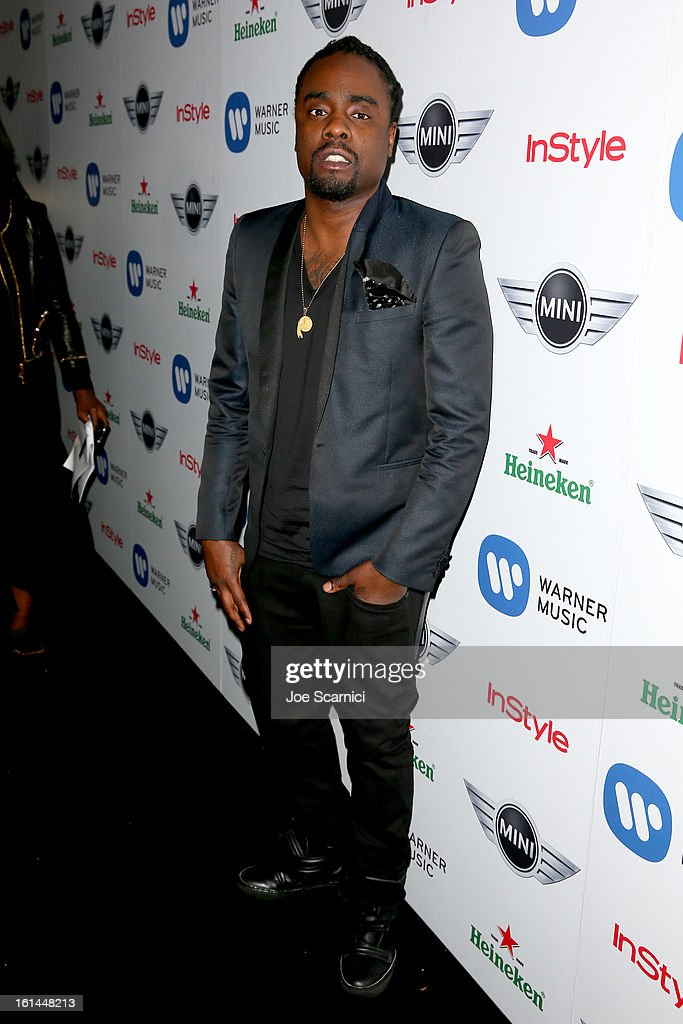 Rapper Wale arrives at the Warner Music Group 2013 Grammy Celebration Presented by Mini at the Chateau Marmont on February 10, 2013 in Los Angeles, California.