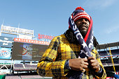 Rapper Wale attends practice day prior to the 2015 Bridgestone NHL Winter Classic on December 31 2014 in Washington DC The 2015 Bridgestone NHL...