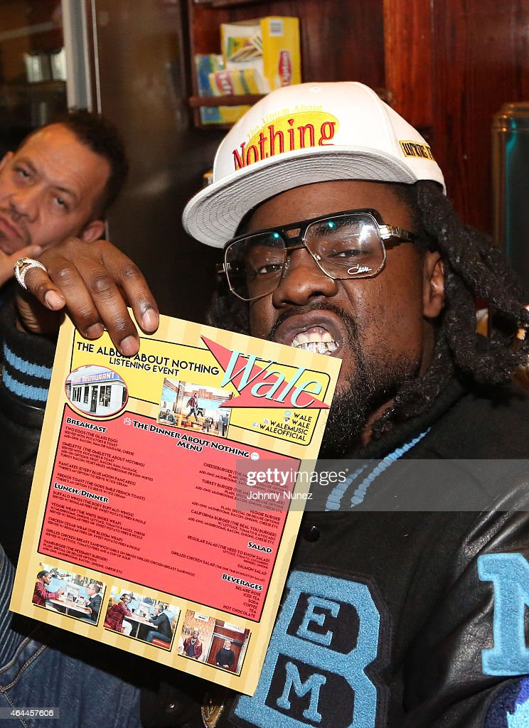 Rapper Wale attends 'The Album About Nothing' Release Party on February 25 2015 in New York City