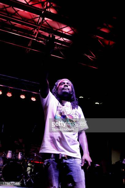 Rapper Wale performs at the 6th annual Sunset Strip Music Festival on the Sunset Strip on August 3 2013 in West Hollywood California