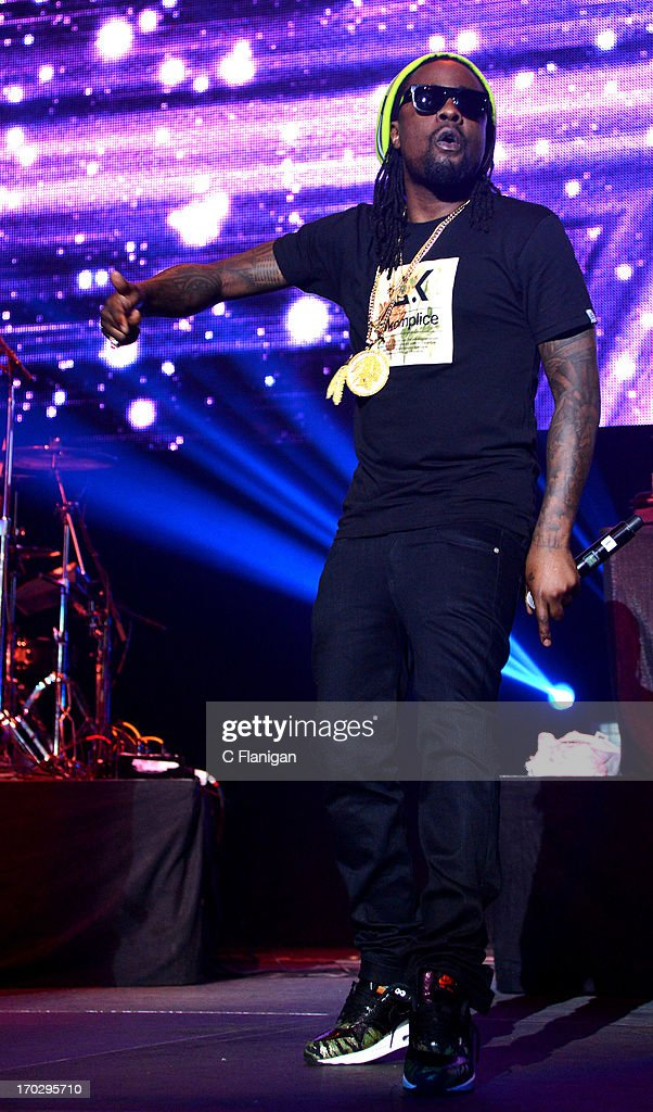 Rapper Wale performs during the 2013 KMEL Summer Jam at ORACLE Arena on June 9, 2013 in Oakland, California.