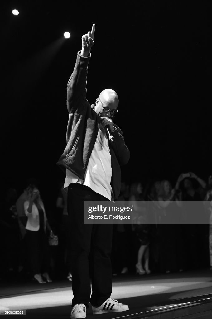 Rapper Warren G performs on stage at the premiere of 'G-Funk' during the 2017 Los Angeles Film Festival at The Theater at Ace Hotel on June 16, 2017 in Hollywood, California.