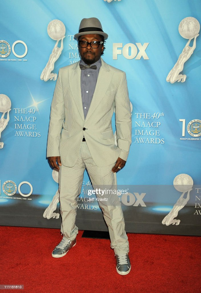 Rapper will..i.am arrives at the 40th NAACP Image Awards held at the Shrine Auditorium on February 12, 2009 in Los Angeles, California.