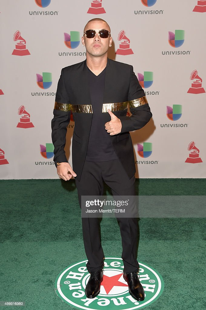Rapper Wisin attends the 15th Annual Latin GRAMMY Awards at the MGM Grand Garden Arena on November 20, 2014 in Las Vegas, Nevada.