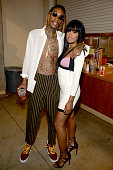 Rapper Wiz Khalifa and actress Keke Palmer attend the Teen Choice Awards 2015 at the USC Galen Center on August 16 2015 in Los Angeles California