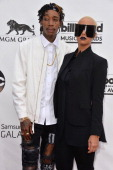Rapper Wiz Khalifa and model Amber Rose attend the 2014 Billboard Music Awards at the MGM Grand Garden Arena on May 18 2014 in Las Vegas Nevada