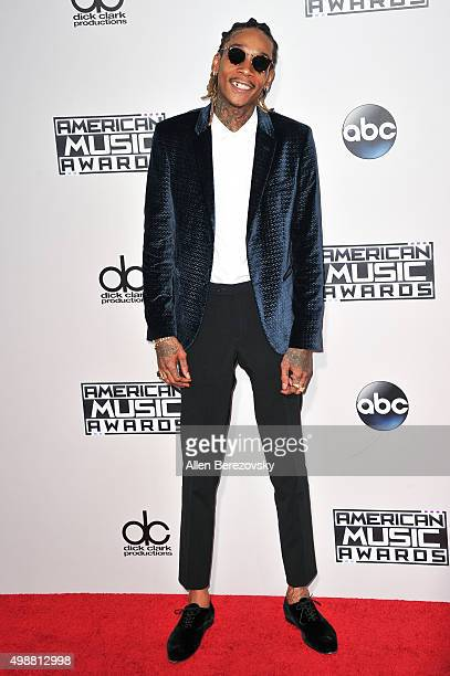 Rapper Wiz Khalifa arrives at the 2015 American Music Awards at Microsoft Theater on November 22 2015 in Los Angeles California