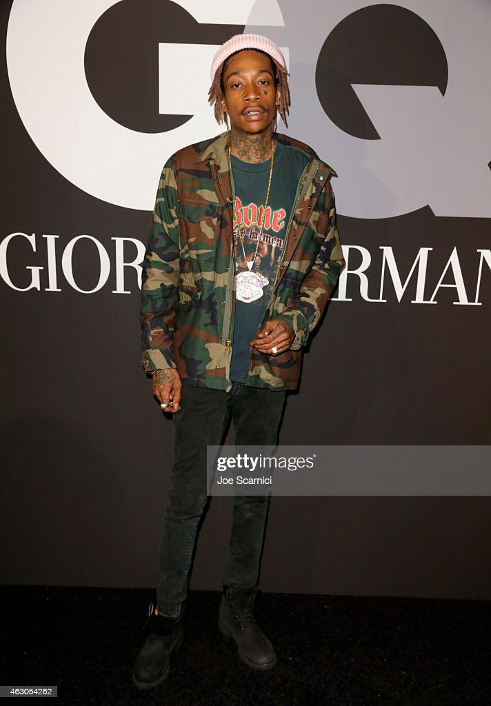 Rapper Wiz Khalifa attends GQ and Giorgio Armani Grammys After Party at Hollywood Athletic Club on February 8, 2015 in Hollywood, California.