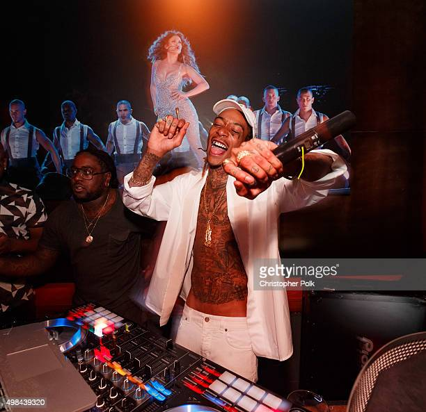 Rapper Wiz Khalifa attends Jennifer Lopez's 2015 American Music Awards After Party hosted by CÎROC with Cross Pens on November 22 2015 in Los Angeles...