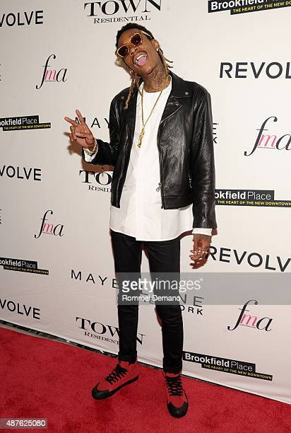 Rapper Wiz Khalifa attends The Daily Front Row's Third Annual Fashion Media Awards at the Park Hyatt New York on September 10 2015 in New York City