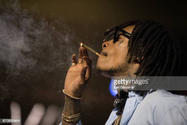 Rapper Wiz Khalifa performs at ComplexCon 2017 on November 5 2017 in Long Beach California