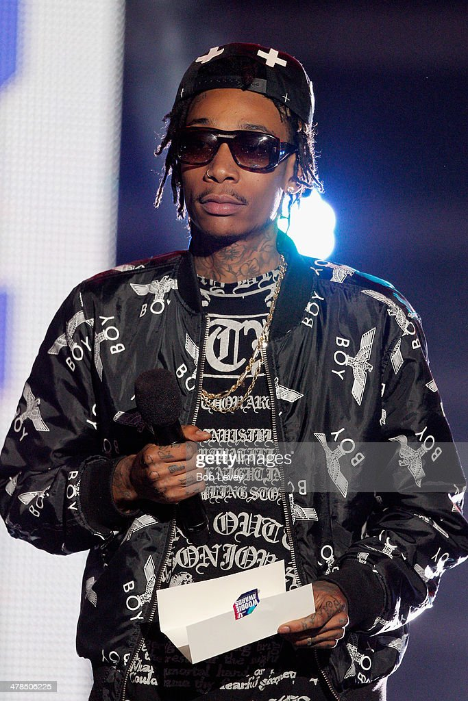 Rapper Wiz Khalifa speaks onstage at the 2014 mtvU Woodie Awards and Festival on March 13, 2014 in Austin, Texas.