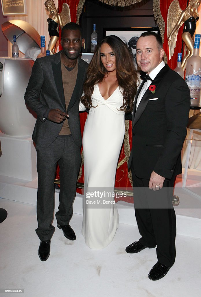 Rapper Wretch 32, Tamara Ecclestone and David Furnish arrive at the Grey Goose Winter Ball at Battersea Power Station on November 10, 2012 in London, England.