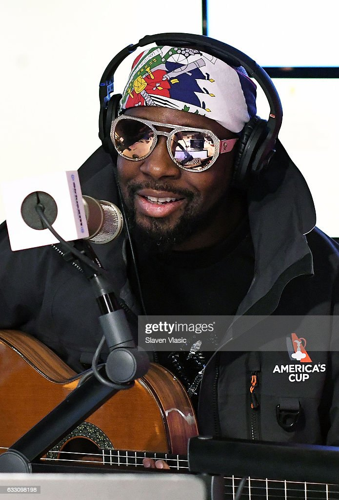 Rapper Wyclef Jean performs at The Jenny McCarthy Show at SiriusXM Studios on January 30, 2017 in New York City.