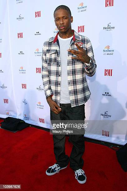 Rapper YG arrives at the 2010 BMI Urban Music Awards at the Pantages Theatre on September 10 2010 in Hollywood California
