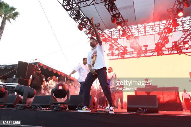 Rapper YG performs at the Summertime In The LBC on August 5 2017 in Long Beach California