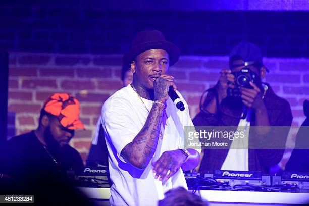 Rapper YG performs during adidas Be The Difference LA on July 15 2015 in Los Angeles California