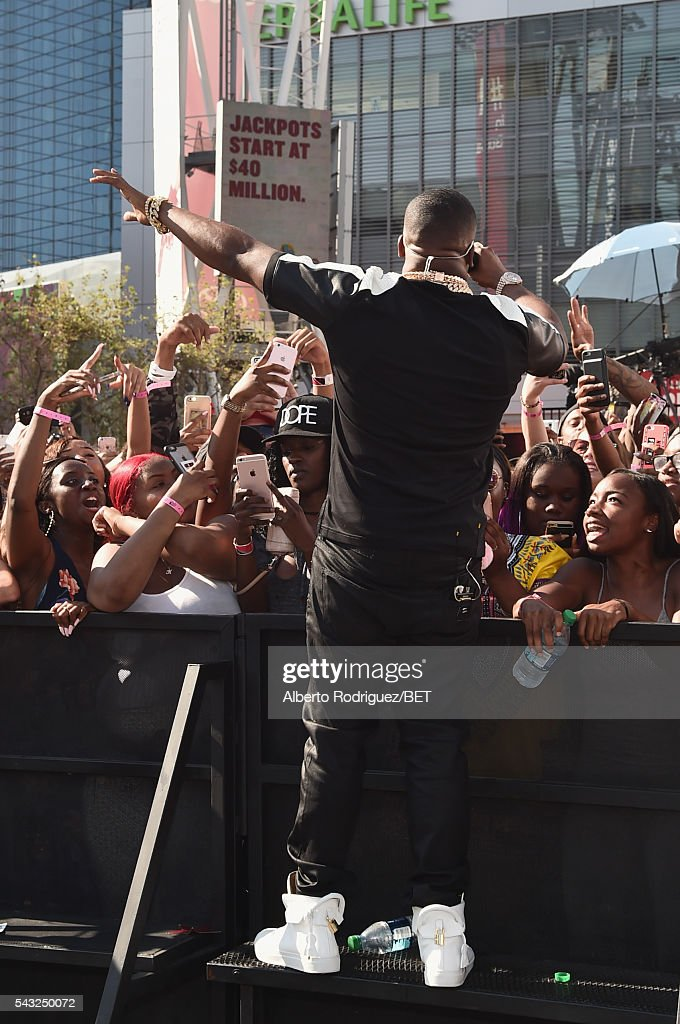 Rapper <a gi-track='captionPersonalityLinkClicked' href=/galleries/search?phrase=Yo+Gotti&family=editorial&specificpeople=608327 ng-click='$event.stopPropagation()'>Yo Gotti</a> performs at the 2016 BET Awards at the Microsoft Theater on June 26, 2016 in Los Angeles, California.