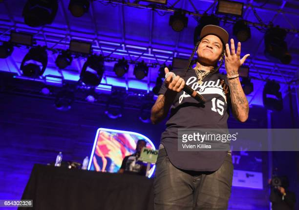 Rapper Young MA performs onstage during Pandora at SXSW 2017 on March 16 2017 in Austin Texas