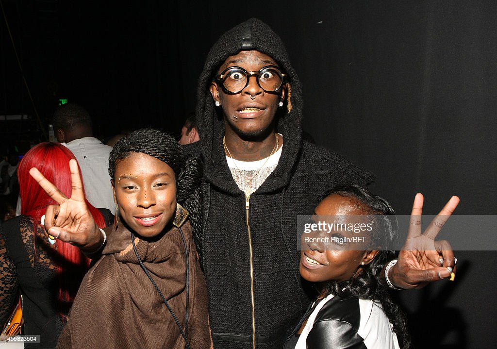 Rapper Young Thug and guests attend the BET Hip Hop Awards 2014 at Boisfeuillet Jones Atlanta Civic Center on September 20 2014 in Atlanta Georgia
