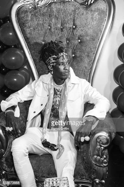 Rapper Young Thug at his private birthday Celebration at Tago International on August 16 2017 in Atlanta Georgia