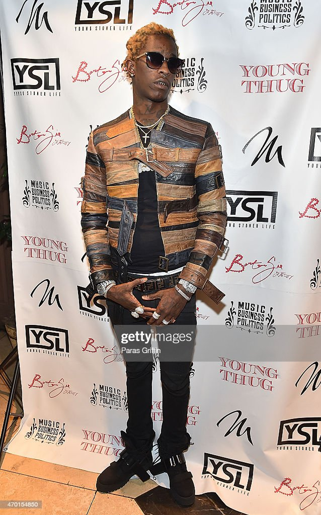 Rapper Young Thug attend Young Thug Private Listening Party at Tease on April 17 2015 in Atlanta Georgia