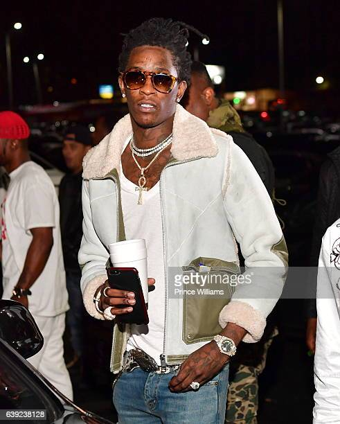 Rapper Young Thug attends a Party at Libra Lounge on January 18 2017 in Decatur Georgia
