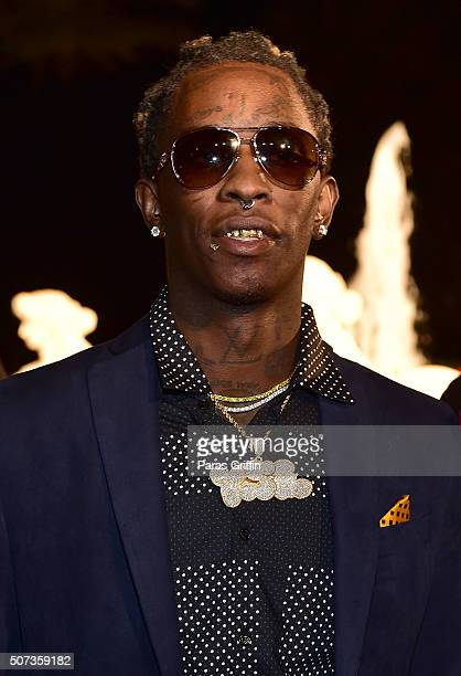 Rapper Young Thug attends Rick Ross 40th Birthday Celebration on January 28 2016 in Fayetteville Georgia