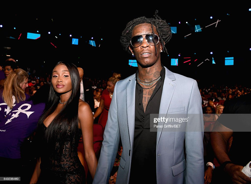 Rapper <a gi-track='captionPersonalityLinkClicked' href=/galleries/search?phrase=Young+Thug+-+Rapper&family=editorial&specificpeople=13617846 ng-click='$event.stopPropagation()'>Young Thug</a> attends the 2016 BET Awards at the Microsoft Theater on June 26, 2016 in Los Angeles, California.