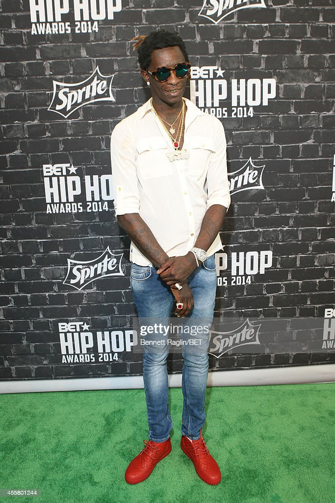 Rapper Young Thug attends the BET Hip Hop Awards 2014 presented by Sprite at Boisfeuillet Jones Atlanta Civic Center on September 20 2014 in Atlanta...
