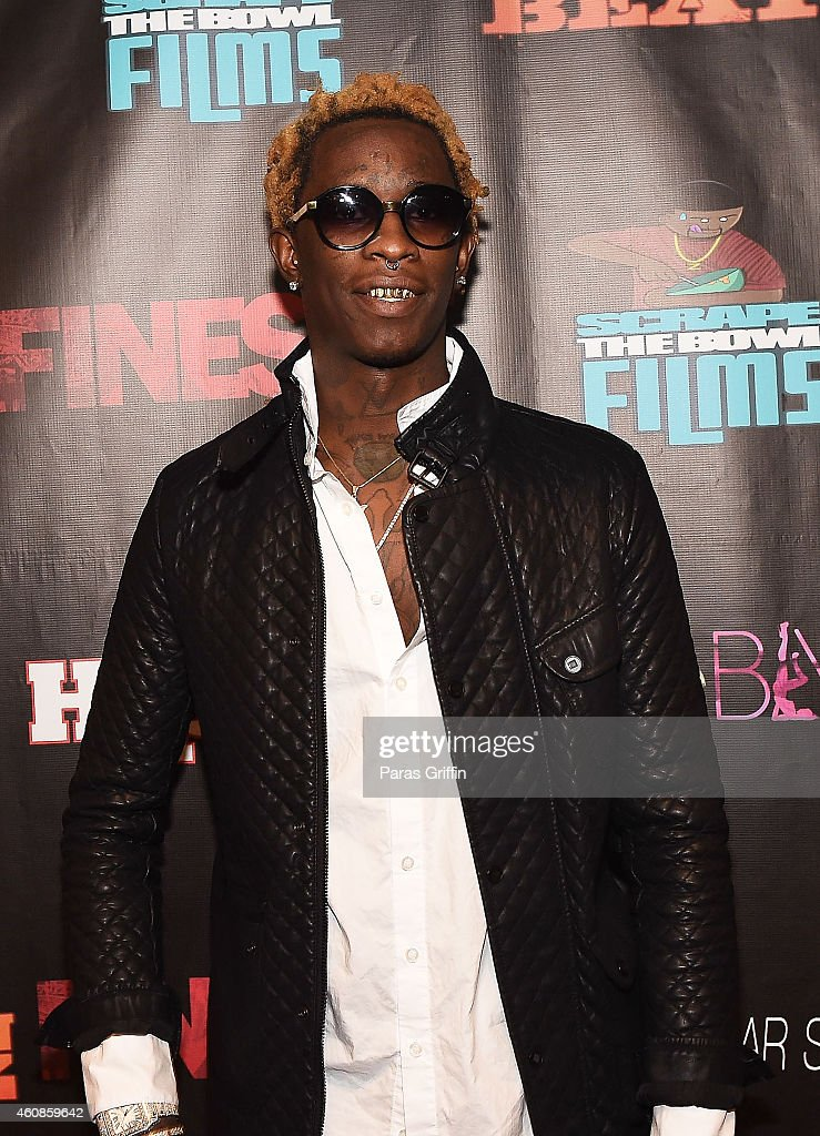 Rapper Young Thug attends the 'Finesse' Atlanta Screening at Landmark Theater on December 23 2014 in Atlanta Georgia