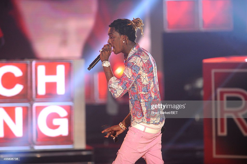 Rapper Young Thug performs onstage during the BET Hip Hop Awards 2014 at Boisfeuillet Jones Atlanta Civic Center on September 20 2014 in Atlanta...